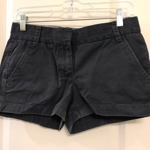 J. Crew Black Chino Shorts